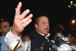 Nawaz Sharif at Long March