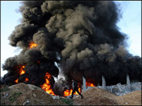 Burning Ghaza