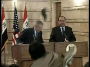 Shoe attack on US President