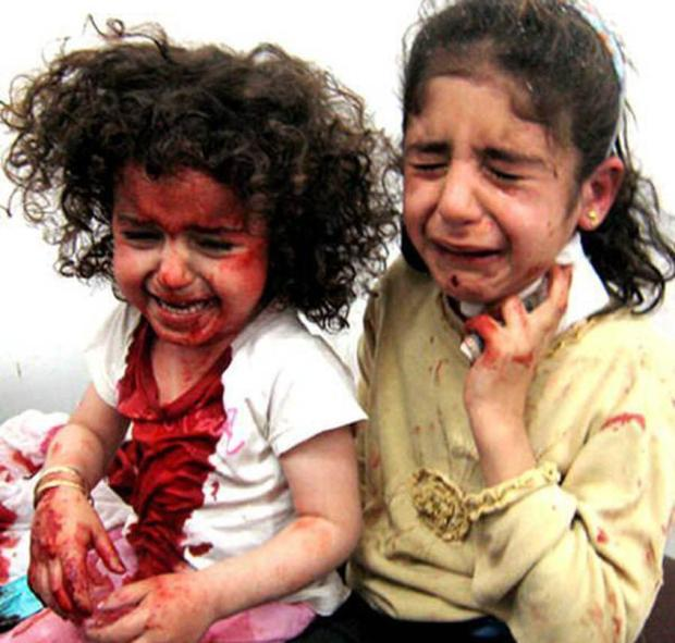 Tears of the innocent girls of Gaza......
