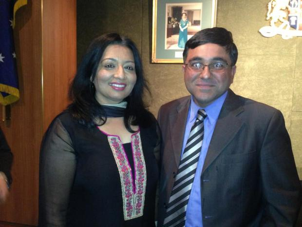 With Mehreen Faruqi